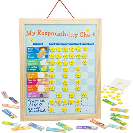 Imagination Generation My Responsibility Chart | Magnetic Dry Erase Chore Chart ()