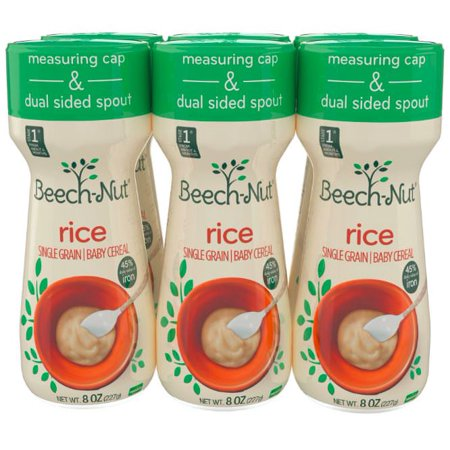 Beech-Nut Rice Cereal Baby Cereal Stage 1 - 8 Oz, 6