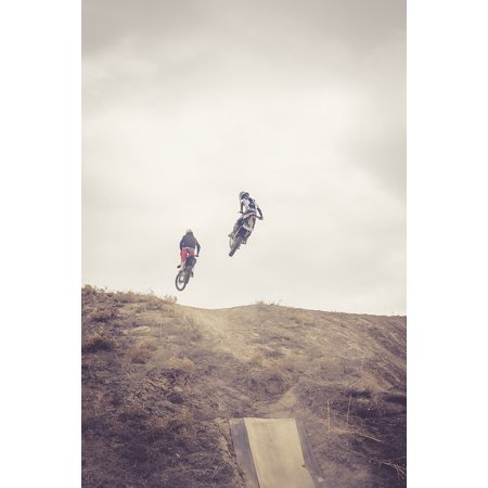 No Trick Treat Poster (LAMINATED POSTER Jump Motocross Dirtbike Dirt Bikes Freestyle Trick Poster Print 24 x 36 )