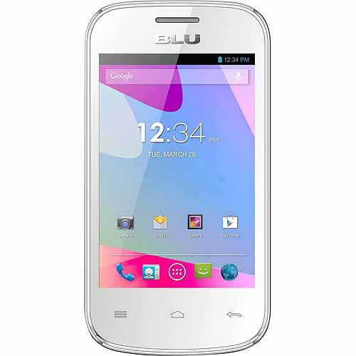 BLU Dash JR D140 Smartphone (Unlocked), White