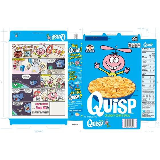 quaker quisp crunchy corn breakfast cereal 8 5 oz box walmart com