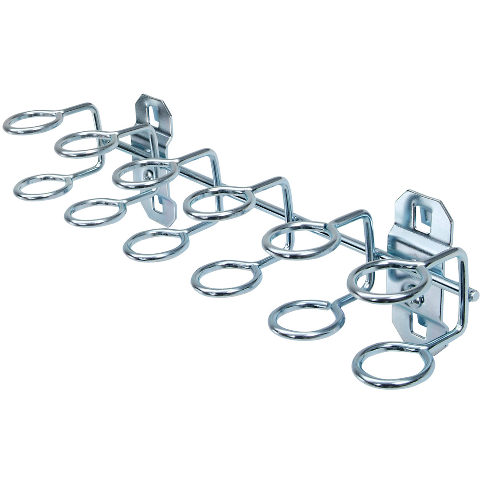 "LocHook 9""W with 3/4""ID Zinc Plated Steel Multi-Ring Tool Holder for LocBoard, 2pk"