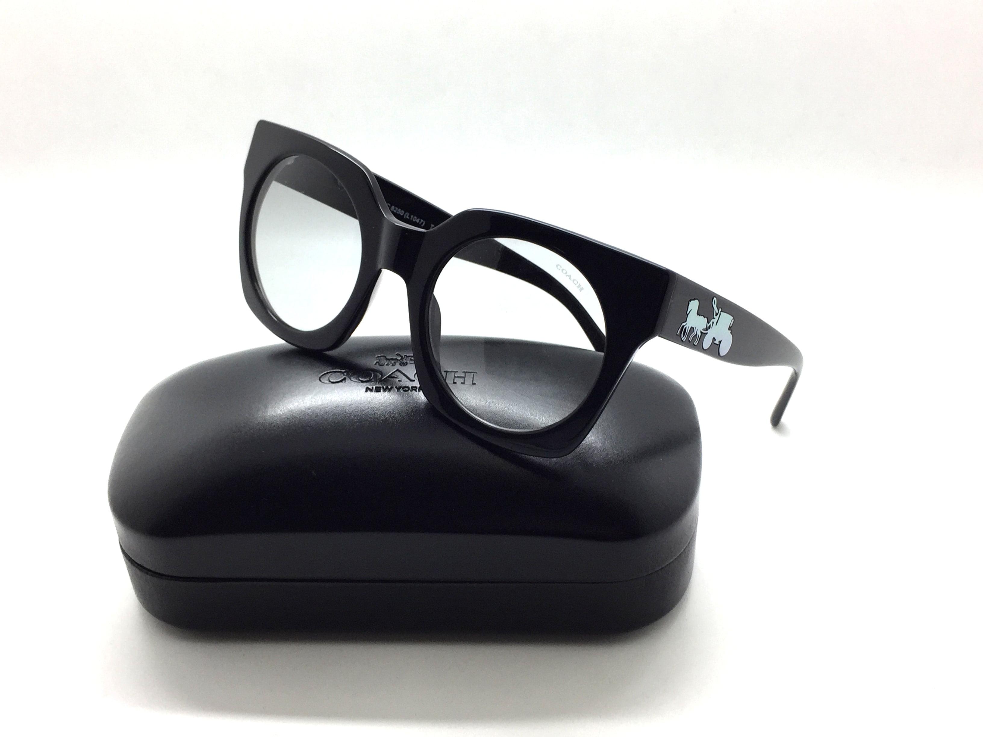 743af8ca9a8 Coach - Coach Women s HC8250 HC 8250 500287 Solid Black Fashion Round  Sunglasses 51mm - Walmart.com