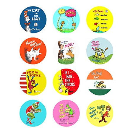 CUSTOMIZED Dr Seuss Lorax Cat in the Hat Grinch Book Edible Cupcake Topper Image (Image