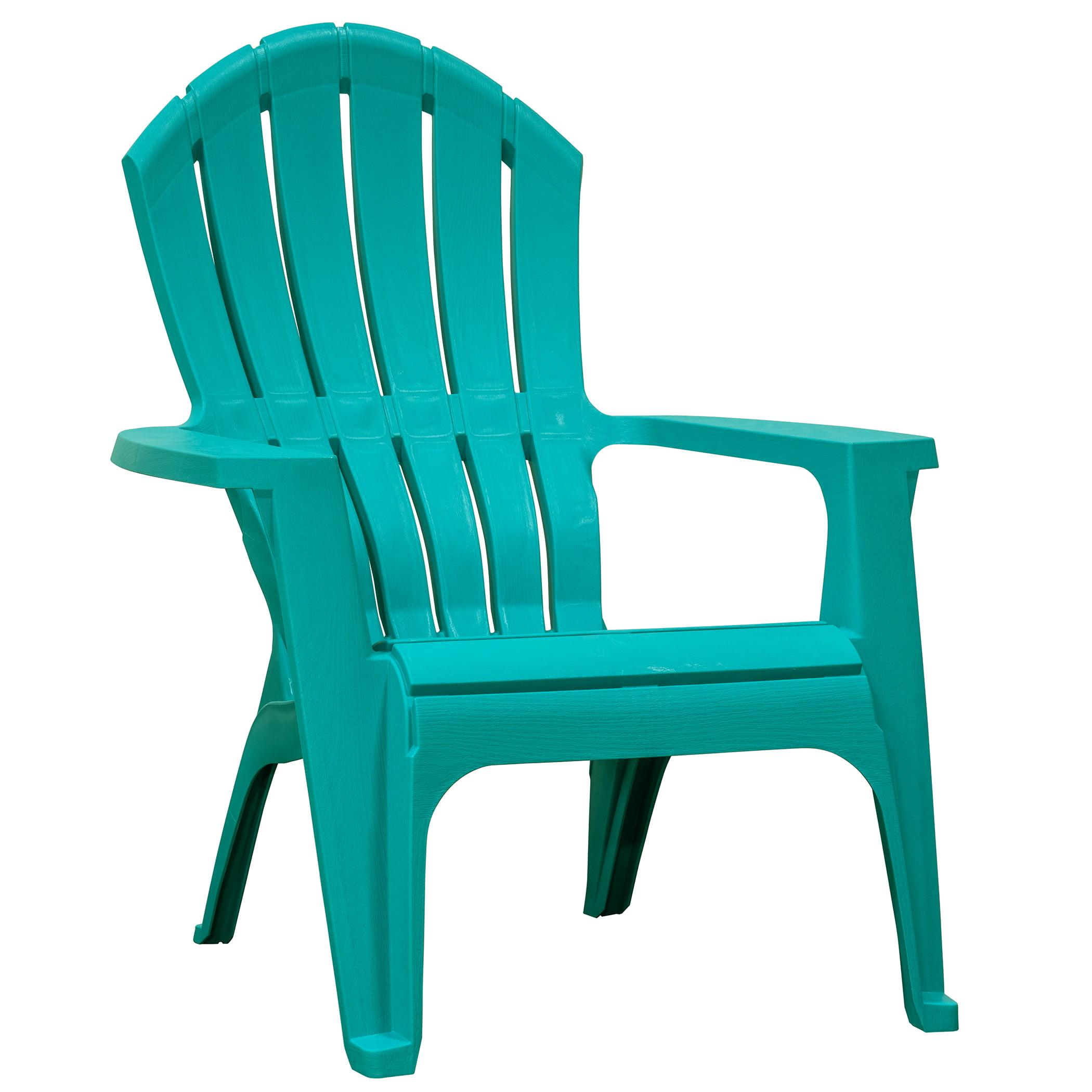 Adams Manufacturing Realcomfort Outdoor Resin Adirondack Chair Teal Walmart Com Walmart Com