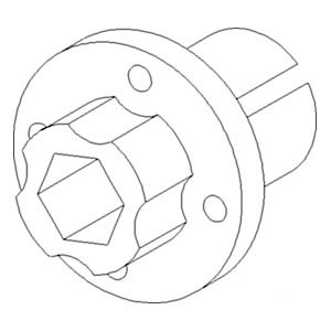 1319402C1 New Beater Discharge Hub Made to fit Case-IH