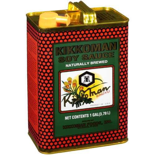 Kikkoman Soy Naturally Brewed Sauce, 1gal