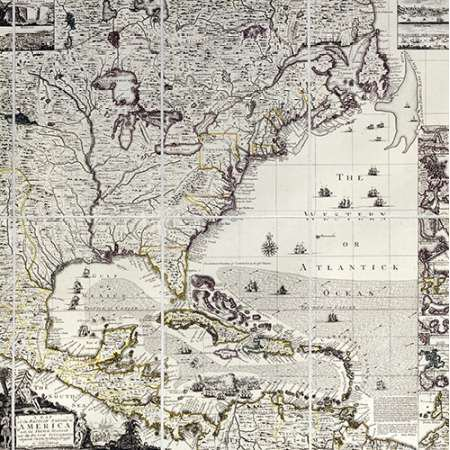 A Map of The British Empire In America Poster Print by Henry
