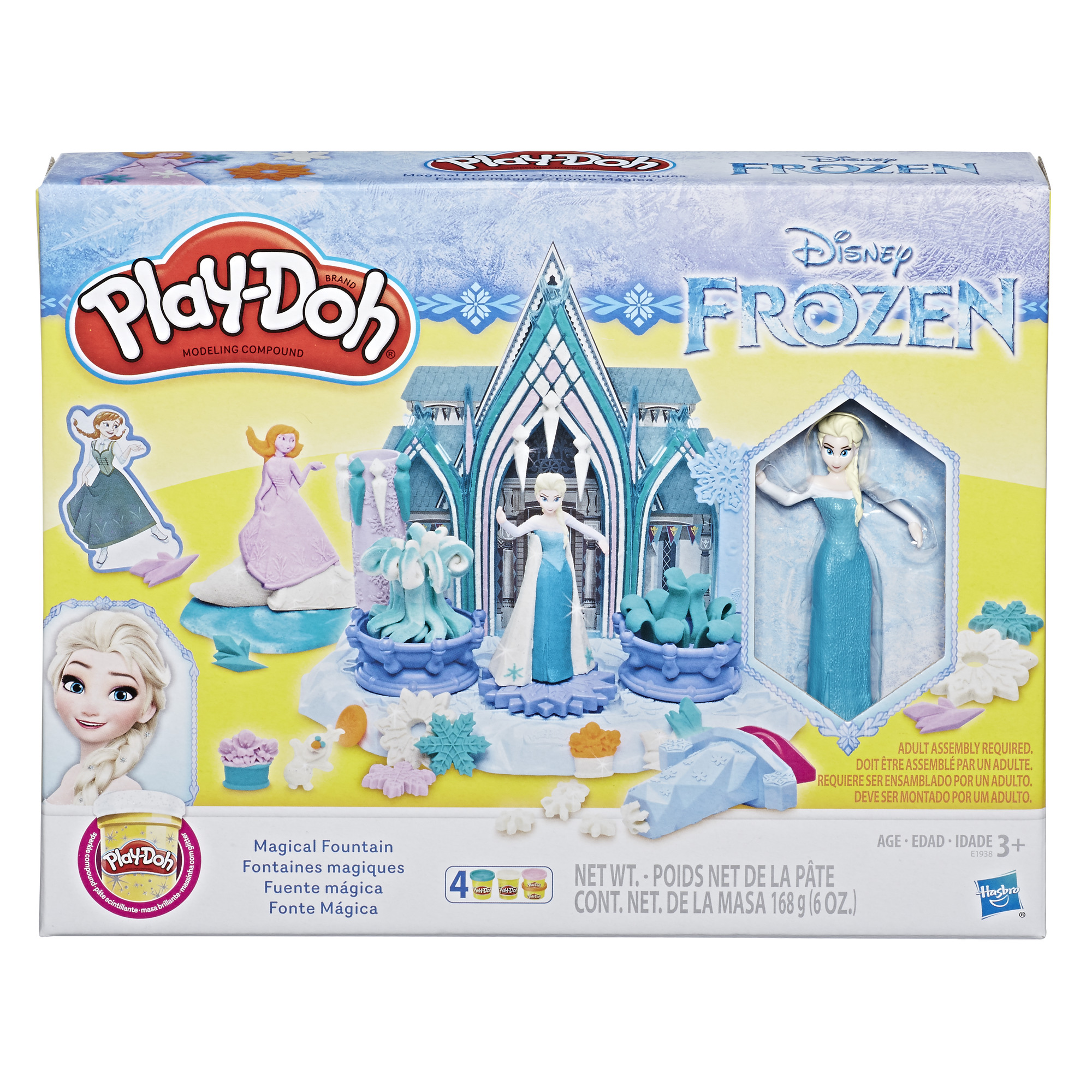 Play-Doh Disney Frozen Magical Fountain with 4 cans of Play-Doh