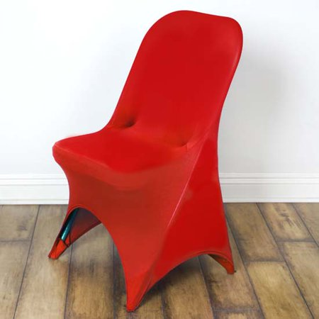 - Stretchy Spandex Fitted Folding Chair Cover, Red