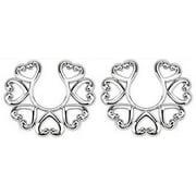 Nipple Rings no piercing Non-Piercing Clip On Nipple Ring / Heart Design pair