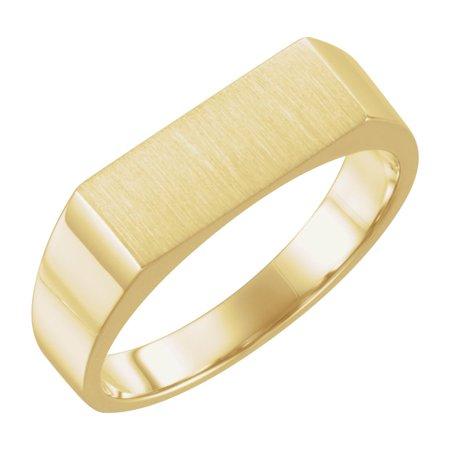 10k Yellow Gold 15x6mm Solid Men Gents Signet Ring (10k Gold Mens Signet Ring)