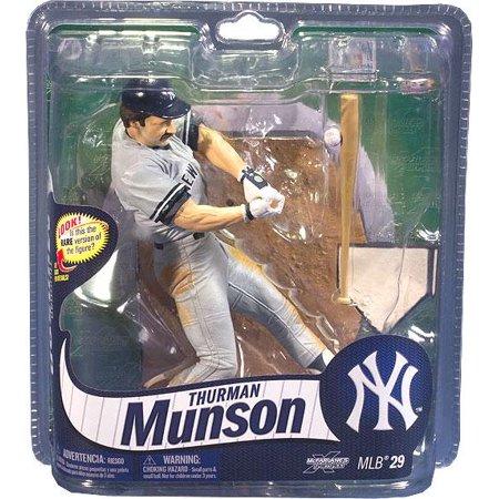 Action Sports Baseball - McFarlane MLB Sports Picks Series 29 Thurman Munson Action Figure [Gray Jersey]