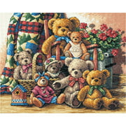 "Gold Collection Teddy Bear Gathering Counted Cross Stitch Ki-15""X12"" 14 Count"