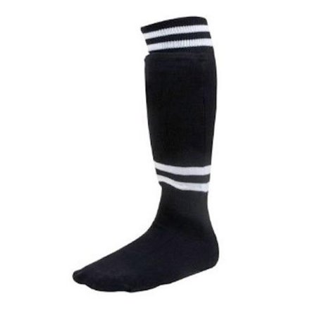 Youth Sock Style Soccer Shinguard, Black - Age