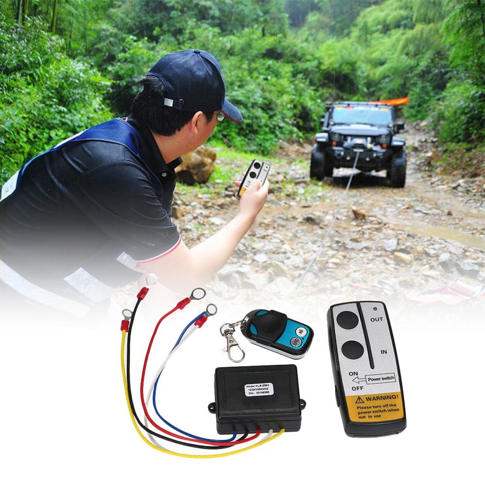 12V Wireless Remote Control Kit Truck Jeep Car ATV Winch Dump Trailer Long Range