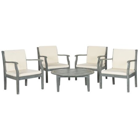 Safavieh Ash Grey Beige Anaheim Outdoor Coffee Chat Made W