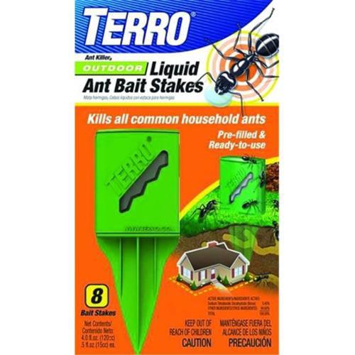 Senoret Terro Outdoor Liquid Ant Bait Stake 8 Pack T1812