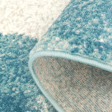 Ladole Rugs Abstract Unigue Area Rug Carpet In Teal Blue