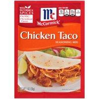 (4 Pack) McCormick Chicken Taco Seasoning Mix, 1 oz
