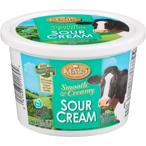 Kemps Smooth & Creamy Sour Cream, 16 oz