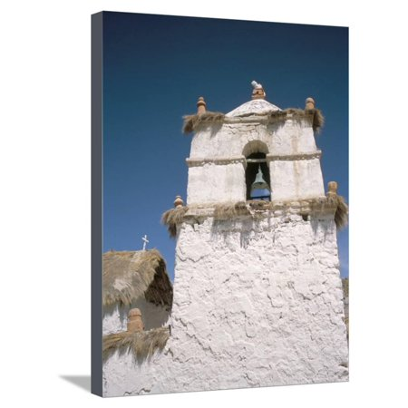 Church, at the Aymara Pastoral Village of Parinacota, Chile Stretched Canvas Print Wall Art By Geoff Renner