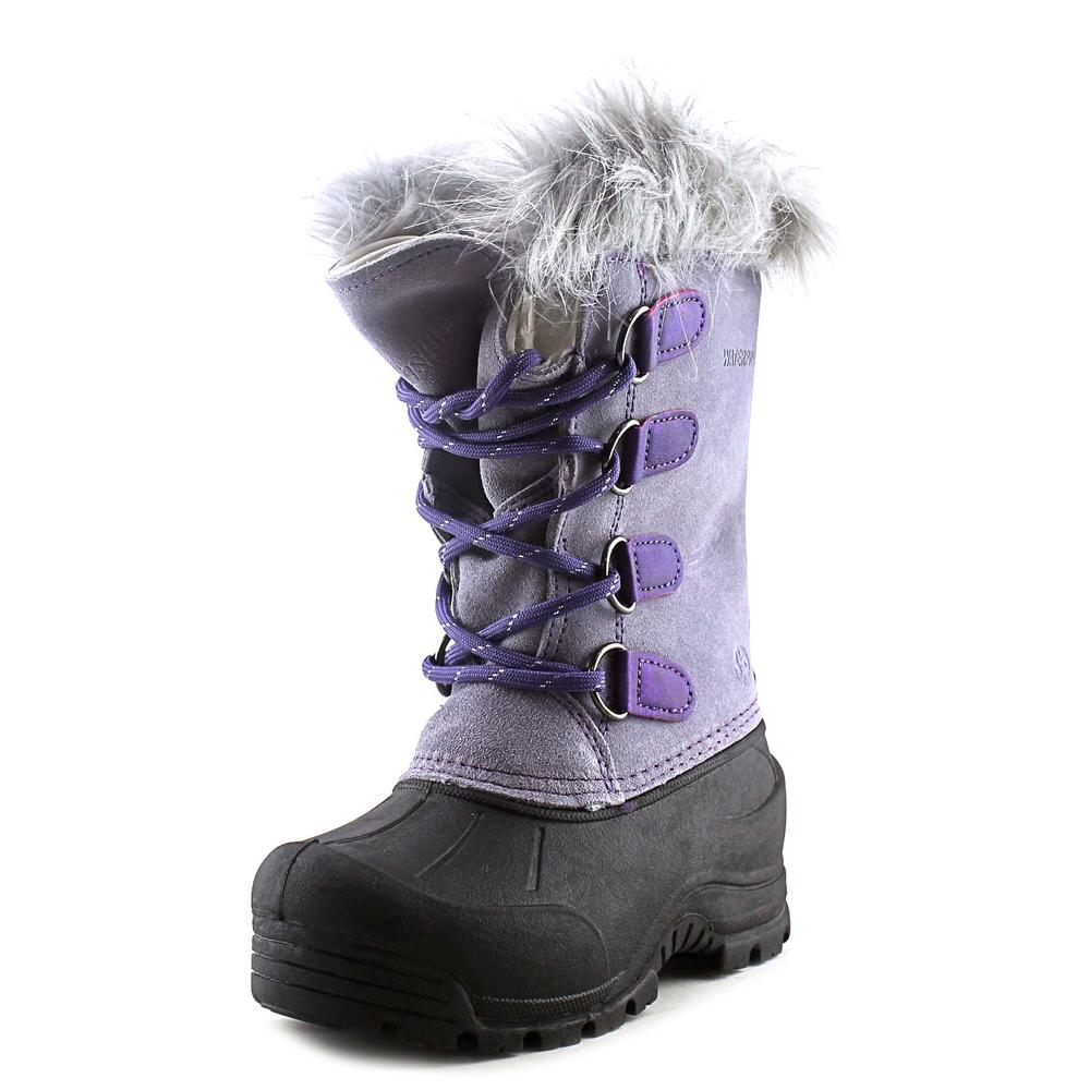 Northside Snow Drop II Youth  Round Toe Suede Purple Snow Boot