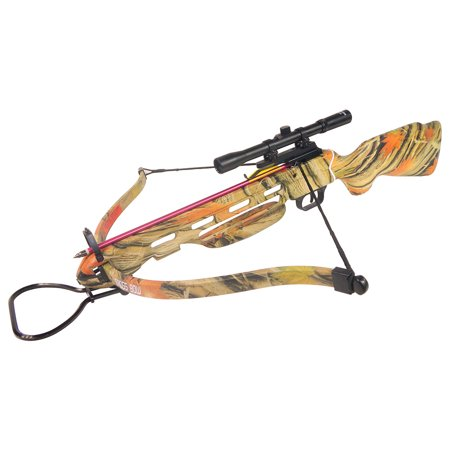 150 lb Black / Wood / Camouflage Hunting Crossbow Archery Bow + 4x20 Scope +7 Arrows + Rope Cocking Device 180 80 50 lbs thumbnail