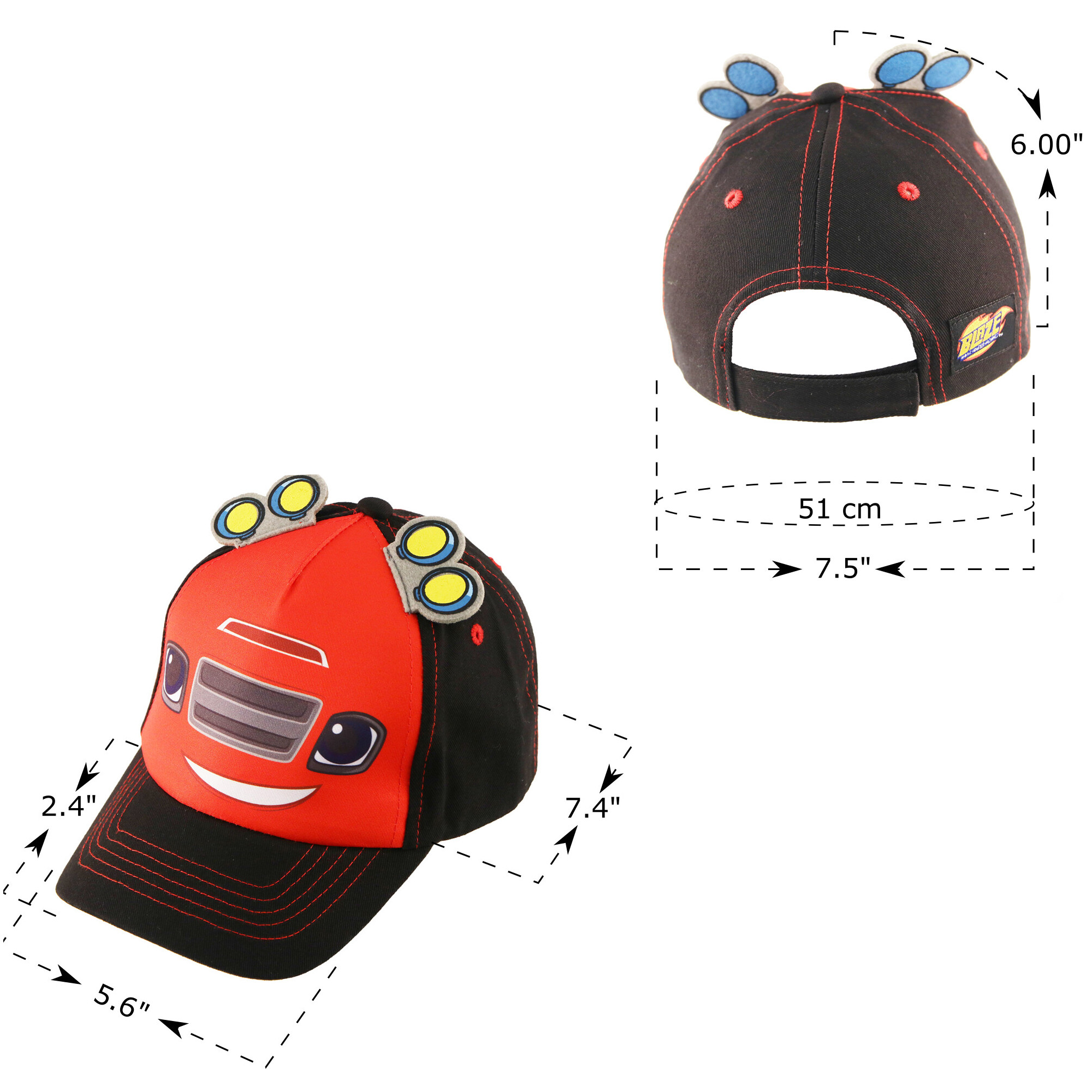 online store 88228 94db2 BLAZE AND THE MONSTER MACHINES - Toddler Boys Blaze And The Monster Machines  Cotton Baseball Cap, Age 2-5 - Walmart.com