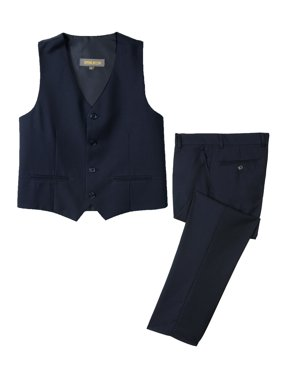 Spring Notion Big Boys' Two Button Suit, Navy