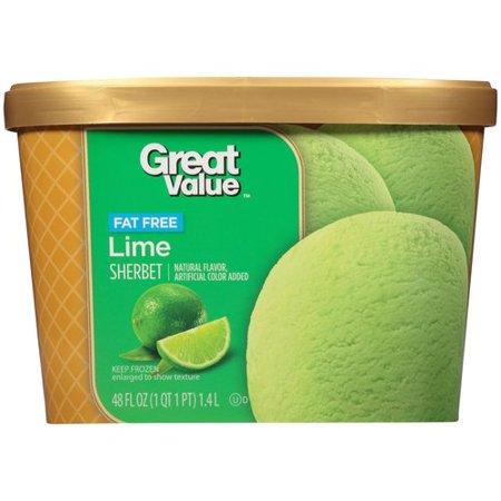 Great Value Lime Sherbet, 48 fl oz - Walmart.com