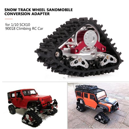 2 Pair Tire Snow Track Wheel Snow Wheels Sandmobile Conversion Adapter for RC Model Cars 1/10 SCX10 90018 Snow Tire - image 2 de 8