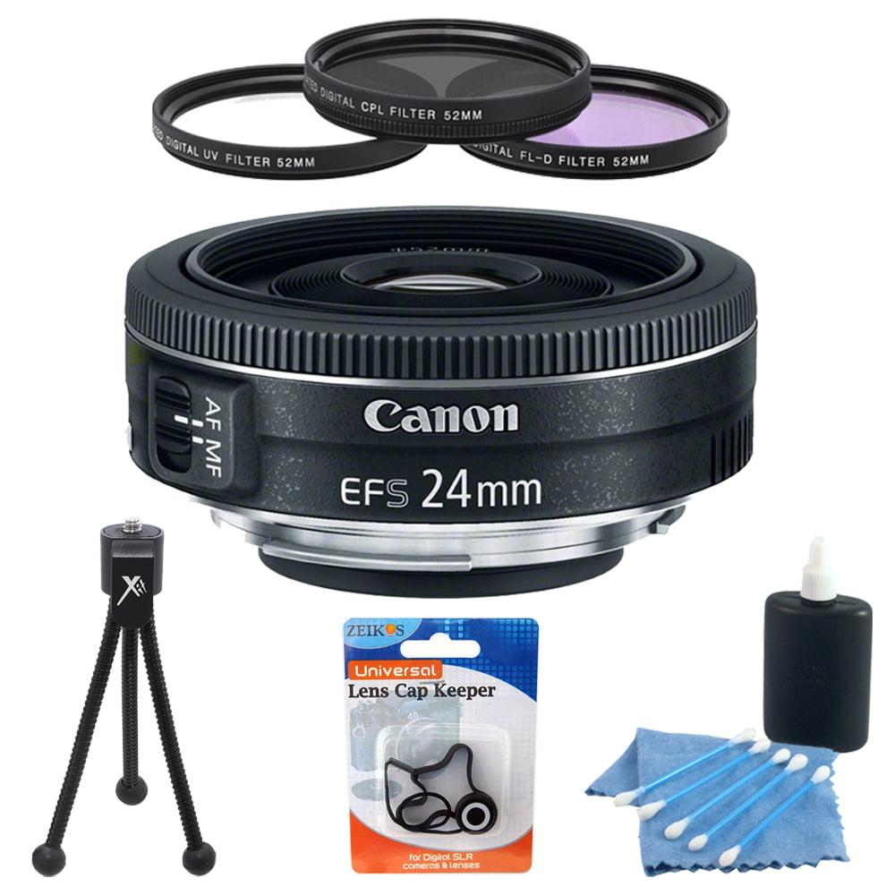 Canon EF-S 24mm f/2.8 STM Camera Lens Accessory Bundle