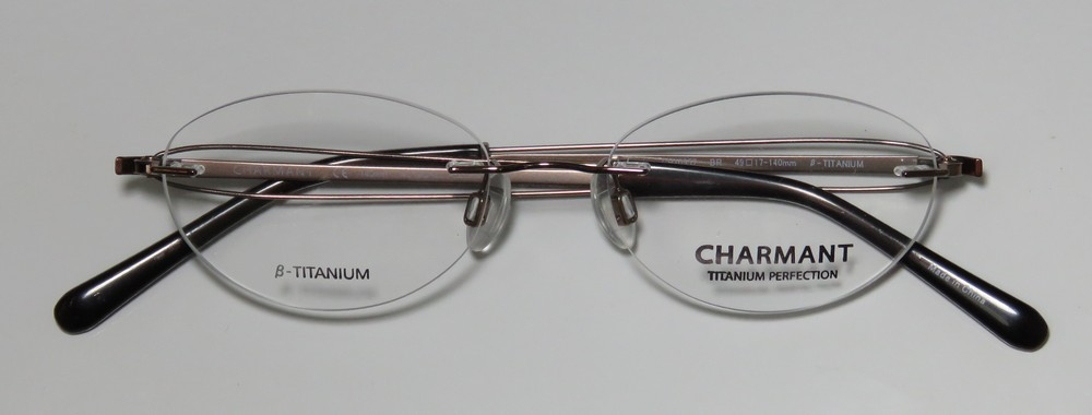 a2f04af217 New Charmant 10957 Womens Ladies Designer Rimless Titanium Brown   Rose  Cheetah Pattern Frame Demo Lenses 49-17-140 Eyeglasses Spectacles -  Walmart.com