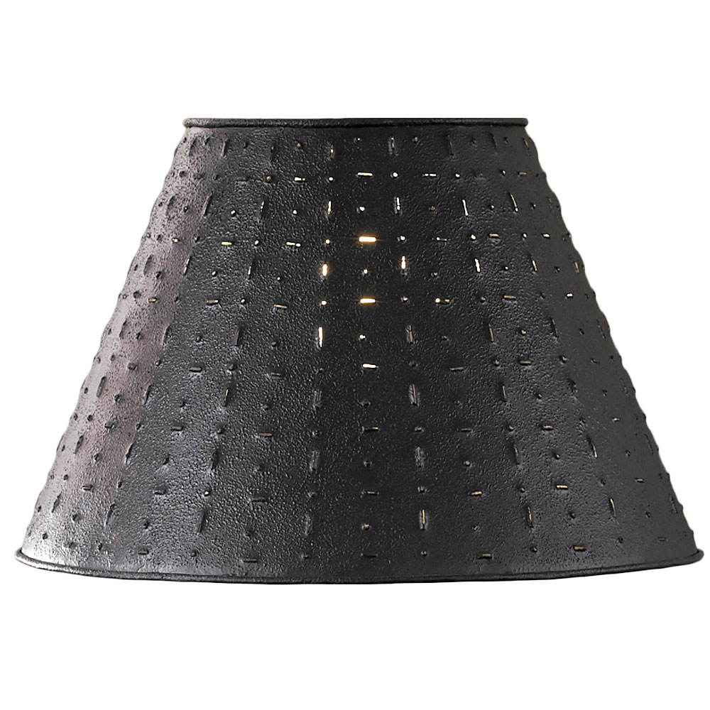 """Punched Tin Lamp Shade - Dot Dash Pattern by Park Designs 10"""", 12"""", 14"""" Diameter"""