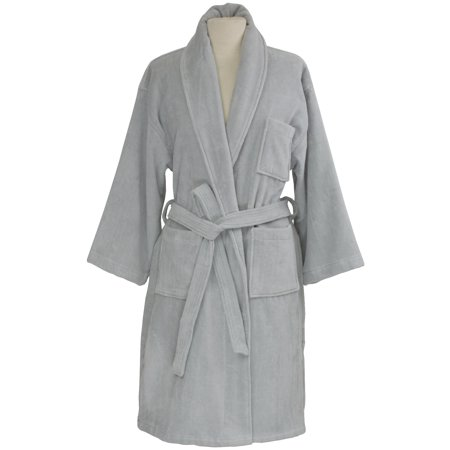 AlpineSwiss Blair Women Cotton Terry Cloth Bathrobe Shawl Collar Velour Spa Robe