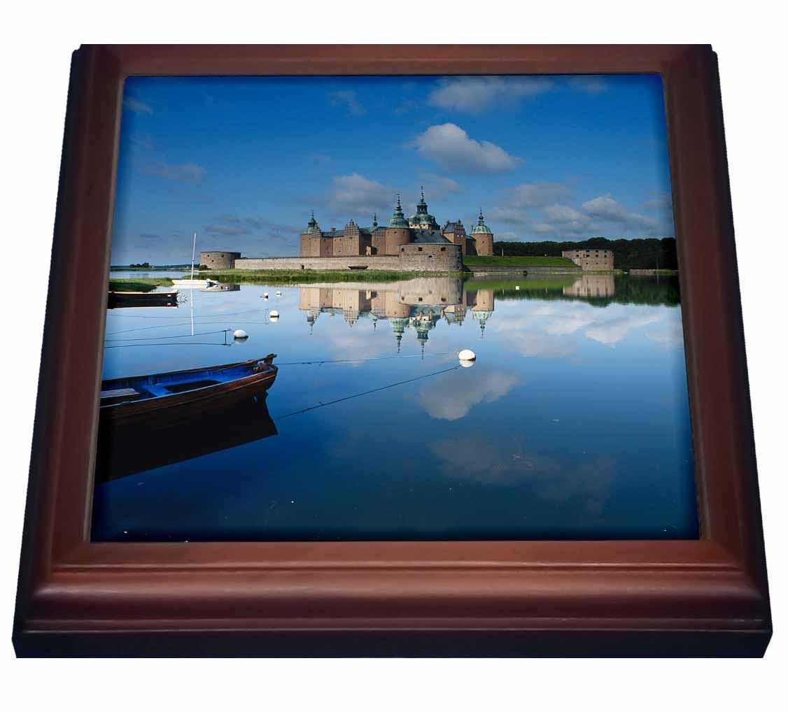 3dRose Sweden, Smaland, Kalmar Castle , Trivet with Ceramic Tile, 8 by 8-inch