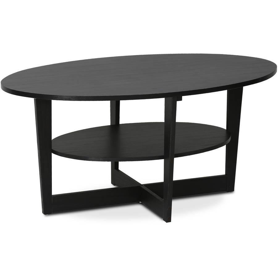 Furinno JAYA 15020WN Round Coffee Table, Walnut