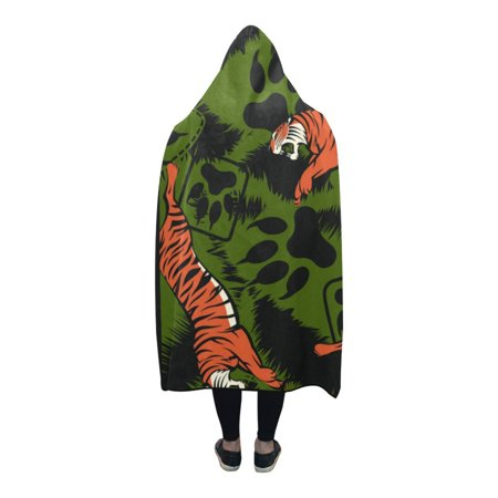 HATIART Hooded Blanket Many Leopards Indoor Blanket Wearable Blankets 56x80 inch - image 2 of 3