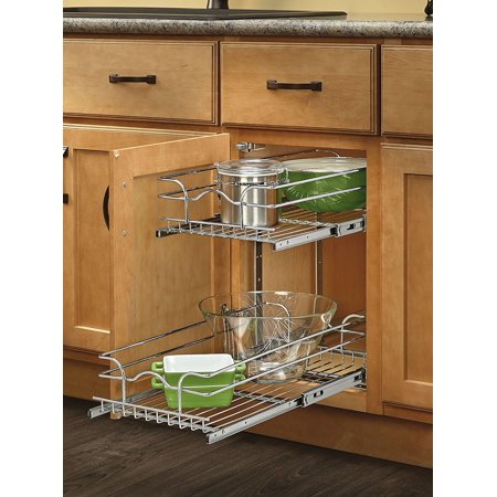 Rev A Shelf 5wb2 0918 Cr Base Cabinet Pullout 2 Tier Wire