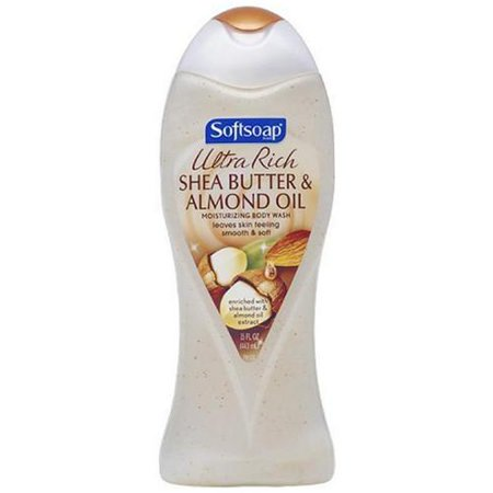 Softsoap Ultra Rich Shea Butter and Almond Oil Moisturizing Body Wash 15 oz (Pack of 3)