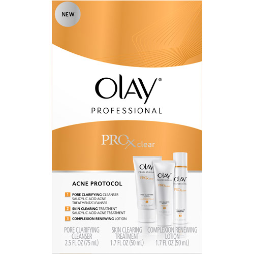 Olay Professional Pro-X Clear Acne Facial Cleanser Protocol 3-Step Kit