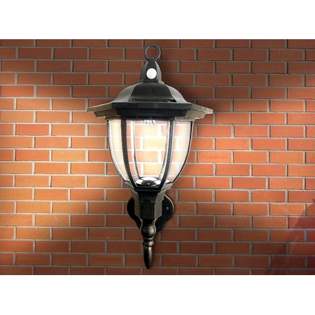 Solar Ed Wall Lamp Motion Activated Security Lights Wireless Outdoor Lantern Beautiful Light Fixture Garden Décor Accent Lighting Best For
