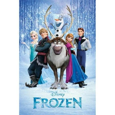 Poster Import XPE160054 Disney Frozen - Movie Cast Poster Print, 24 x 36](Frozen Poster)