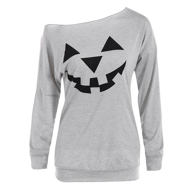 Pumpkin /& Cat Halloween Printed Sweatshirt Womens Tops Long Sleeve O-Neck Sweatshirt Casual Blouse Pullover