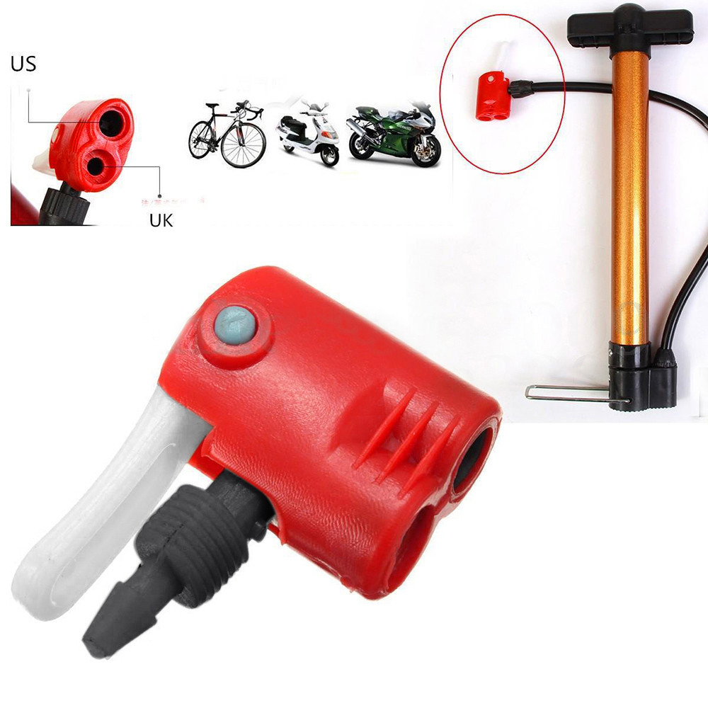 Bike Cycle Tyre Tube Replacement Presta Dual Head Air Valve Adapter Pump W7A7