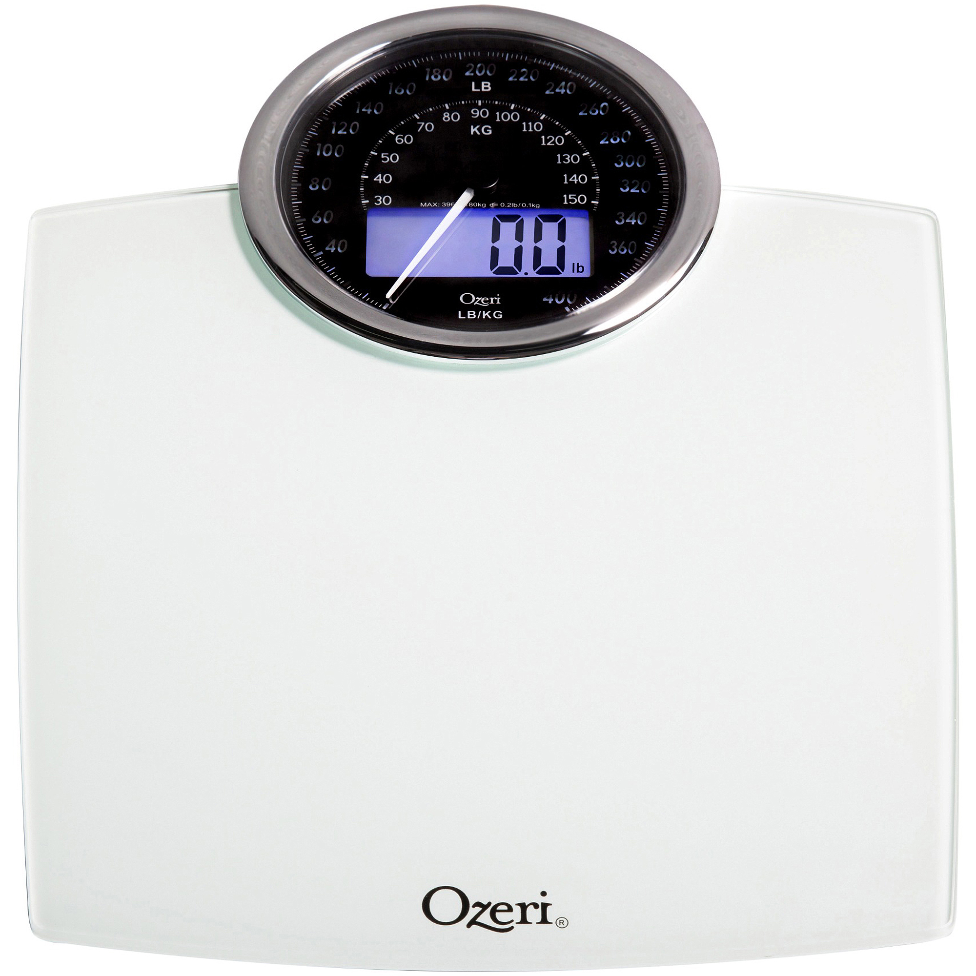 NEW Rev Digital Bathroom Scale With Electro Mechanical Weight Dial Black Colour