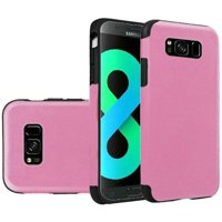 HR Wireless TPU Leatherette Cover Case For Samsung Galaxy S8 Plus - Light Pink