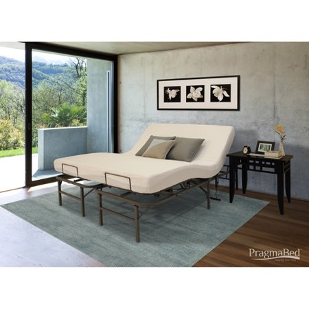 pragmatic adjustable bed frame head and foot split king gray