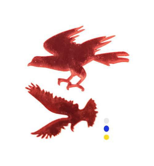 2-Pc Mirror Wall Bird Sticker Set